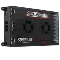 Amplificador Sound Digital 800.4 2ohms Y 4ohms