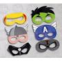 Antifaz Imprimible Los Vengadores Avengers 6 Diseños