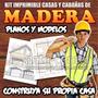 Kit Imprimible Planos De Casas Y Cabañas En Madera