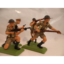 Soldados Ingleses X6 Segunda Guerra Mundial Lote 10 Esc 1:32
