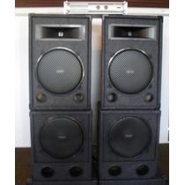 Combo Profesional De Sonido Jahro 2400w+ Potencia Apx800!!!!