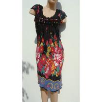 Rapsodia Vestido Tm Algodon Gris Estampado Colores
