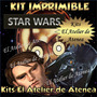 Kit Imprimible Star Wars Caretas -envio Gratis