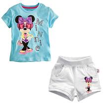 Set Minnie Mouse De Remera Y Short T4- Importado