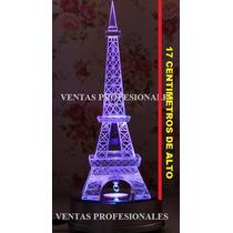 Torre Eiffel De Cristal Muy Fino De 17cm De Alto En Estuche