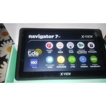 Gps X-view 7 + Tv Tda Con Accesorios Nuevo Y En Caja