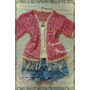 Saco Tipo Kimono Tejido Al Crochet