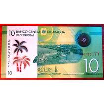 2015 - Billete De Nicaragua - 10 Cordobas - Polimero