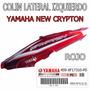 Colin Bajo Asiento Yamaha New Crypton Izq Rojo Orig Fasmotos