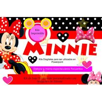 Kit Imprimible Candy Bar Minnie Mouse Golosinas