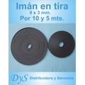 Imán En Tira, 9x3 Mm.x 5 Mts.$ 48,- X 10 Mts. $ 85,-