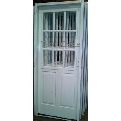 Puerta pavir inyectada 1 2 reja pesada chapa 18 - Pintar puerta galvanizada ...