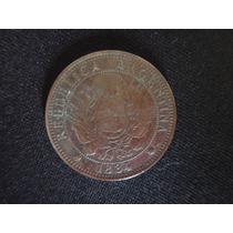 Moneda Argentina 2 Centavos De Patacon 1884 - Km33