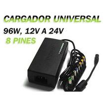 Cargador Universal De Notebook / 8 Conectores / 12v A 24v