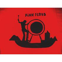 Remera Pintada A Mano De Pink Floyd Pompey