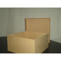 Cajas Fibrofacil 20x20x10 3mm Plegadas, Una Pieza (10 Un)