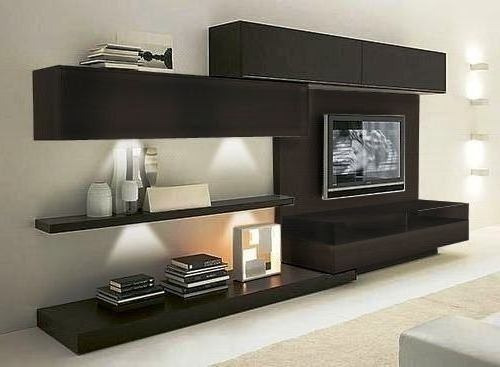 Arquiycarpinteros mueble lcd rack tv living melamina for Muebles living moderno