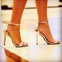 Stilettos Y Cartera/bolso Cuero Importada Cristal Swarowsky