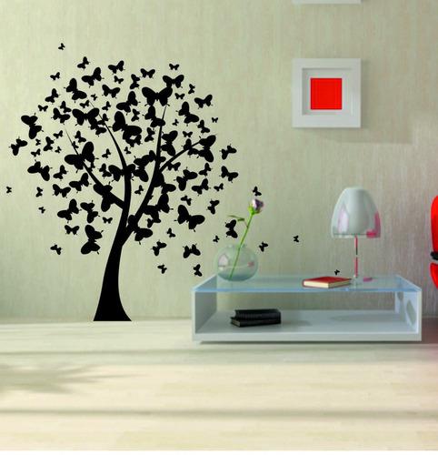 Vinilos decorativos de pared arboles y florales regalo for Vinilos pared completa