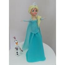 Princesa Elsa ( Frozen) 25 Cms De Alto...+ Olaf