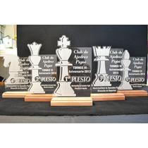 Trofeos Placa Acrilico Con Madera