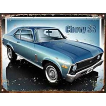 Cartel De Chapa Publicidad Antigua Chevy Ss Y281