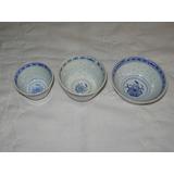 Bowl Oriental Porcelana Grano Arroz 3 Med Souvenir No Envio