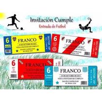Invitación Ticket Fútbol X 22