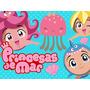 Kit Imprimible Princesas Del Mar Diseñá Tarjetas Cumples