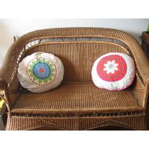 Super Almohadones Puffs Mandalas - Diseño - Telas Importadas