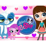 Kit Imprimible Littlest Pet Shop Diseñá Tarjetas Cumples