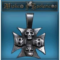 Medalla Calaveras En Plata 2 Cm Modelo 01
