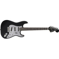 Squier Stratocaster Black & Chrome Fat Rwn Hss Guitarra