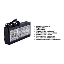 Flash 18 Led Audiorritmico Led Room Strobe,ideal Fiestas !!!