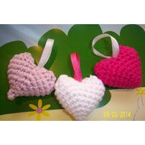 Souvenirs Corazones Tejidos Al Crochet