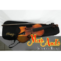 Parquer Vl600 - Violin Macizo C/ Estuche Y Arco
