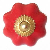 Tiradores De Ceramica - Modelo Margarita (lisos) (ladrillo)