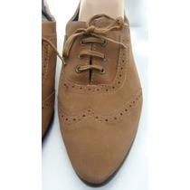 Zapatos 39 Cuero Sintetico Nobuk Marron (ana.mar)