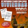 Kit Imprimible Planos Para Casas Y Viviendas + Envio Gratis