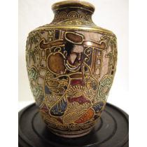 Muy Antiguo Mini Vaso Oriental Cerámica Japonesa Satsuma