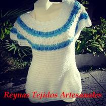 Chaleco Tejido Al Crochet - Tejidos Atesanales.