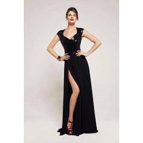 Vestido Las Oreiro De Noche , Color Dorado, Talle L