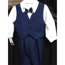 Trajes Kids 4 Piezas (camisa+moño+chaleco+pantalòn) Bautismo