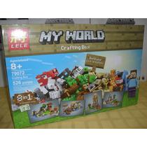 Escenario Gigante Y Figuras Minecraft Excelentes ! Blockes