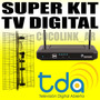 Kit Tv Digital Tda Deco + Antena + Cable Gratis Sin Abonos!!