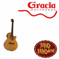 Gracia 350 Guitarra Acustica Caoba/wengue Eq C/ Afinador