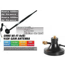 Antena Wireless 9 Dbi C/base Magnetica Largo Alcance Nisuta