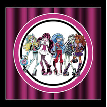 Kit Imprimible Monster High Candy Bar Invitaciones Decoracio