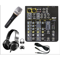 Consola Skp 6 Canales Con Usb + Auric Sony + Microf Profes