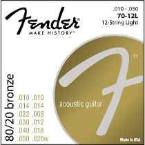 Encordado Fender Para Guitarra Acustica De 12 Cuerdas